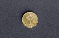 Старая португалка монетки Стоковая Фотография RF