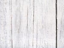 Старая поцарапанная покрашенная белизна всходит на борт предпосылки Стоковые Изображения