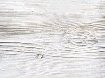 Старая поцарапанная покрашенная белизна всходит на борт предпосылки Стоковые Фото