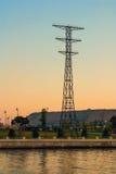 Старая поддержка линии электропередач Стоковая Фотография