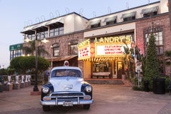 Старая полицейская машина в променаде Kemah, Техасе Стоковая Фотография