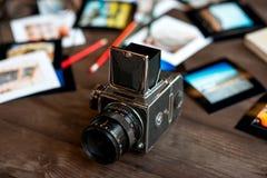 Старая полная камера фильма рамки Стоковая Фотография