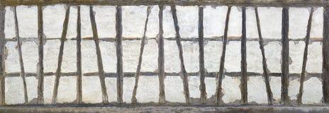 Старая полу-timbered панорама Стоковая Фотография RF