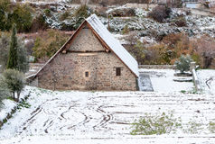 Старая правоверная христианская церковь Panagia Podithou Кипра Стоковые Фото