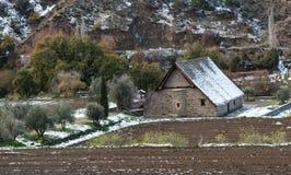 Старая правоверная христианская церковь Panagia Podithou Кипра Стоковые Фотографии RF
