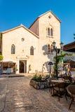 Старая православная церков церковь сделанная камня в византийском стиле в Kotor Адриатическом море, Черногории Стоковое Изображение