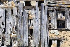 Старая предпосылка деревянной конструкции Стоковое Фото