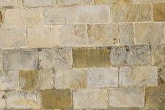 Старая предпосылка каменной стены citywall Франция Нормандия Стоковое Изображение RF