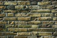 Старая предпосылка кирпичной стены Стоковая Фотография