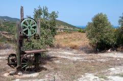 Старая пресса оливок Стоковое Изображение