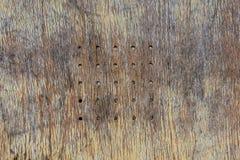 Старая предпосылка деревянной скамьи Стоковое фото RF