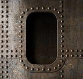 Старая предпосылка иллюминатора металла Стоковые Изображения