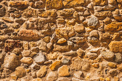 Старая предпосылка каменных стен Стоковое Изображение
