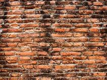 Старая предпосылка кирпичной стены Стоковые Изображения