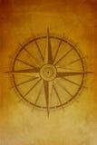 Старая предпосылка компаса Стоковая Фотография