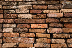 Старая предпосылка конспекта кирпичной стены с старой кирпичной стеной Стоковые Изображения RF