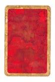 Старая предпосылка крышки играя карточки grunge бумажная красная Стоковые Фото