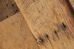 Старая предпосылка текстуры barnwood дуба Стоковые Изображения RF