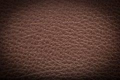 старая предпосылки коричневая кожаная текстура Стоковая Фотография