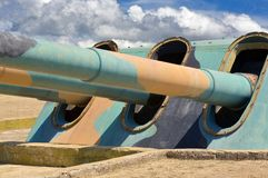 Старая прибрежная батарея Стоковая Фотография RF