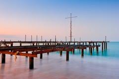 Старая пристань в море Стоковые Фото
