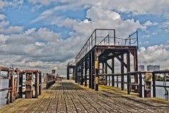 Старая пристань в Роттердаме Стоковая Фотография