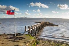 Старая пристань в Шотландии Стоковая Фотография RF