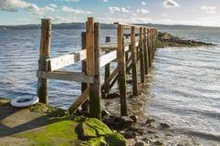 Старая пристань в Шотландии Стоковое Изображение