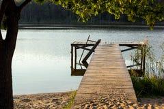 старая пристань деревянная Стоковые Изображения RF
