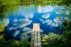 старая пристань деревянная Стоковая Фотография