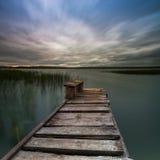 старая пристань деревянная Стоковая Фотография RF