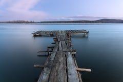 старая пристань деревянная Стоковое фото RF