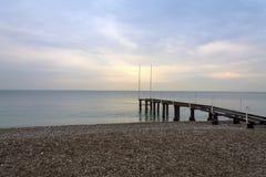 Старая пристань моря Стоковые Фотографии RF