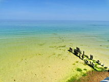 Старая пристань на Балтийском море Стоковая Фотография