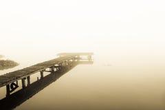 Старая пристань дорожки молы Стоковая Фотография