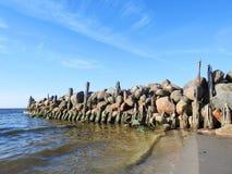 Старая пристань остается, Литва Стоковая Фотография RF