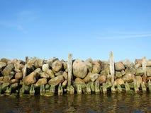 Старая пристань остается, Литва Стоковые Фотографии RF