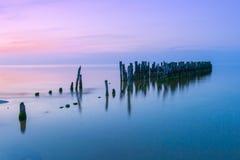 старая пристань Стоковая Фотография