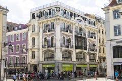 Старая причудливая гостиница в центральном Лиссабоне, Португалии Стоковое Изображение