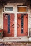 Старая промышленная дверь Стоковое фото RF