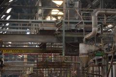 Старая промышленная машина в покинутой фабрике Стоковая Фотография
