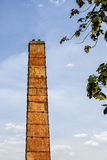 Старая промышленная печная труба Стоковые Фото
