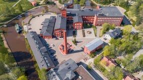 Старая прядильная фабрика в Forssa Стоковая Фотография