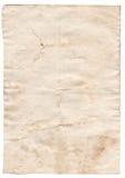 Старая пустая античная бумага на белой предпосылке Стоковые Изображения