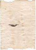 Старая пустая античная бумага на белой предпосылке Стоковое фото RF