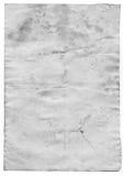 Старая пустая античная бумага на белой предпосылке Стоковые Фотографии RF