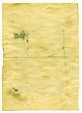 Старая пустая античная бумага на белой предпосылке Стоковые Изображения RF