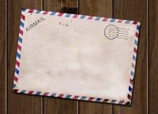 Старая пустая открытка. Стоковые Фото