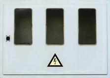 Старая пустая электрическая коробка Стоковое Изображение RF