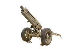 Старая пушка на музее Стоковое Изображение